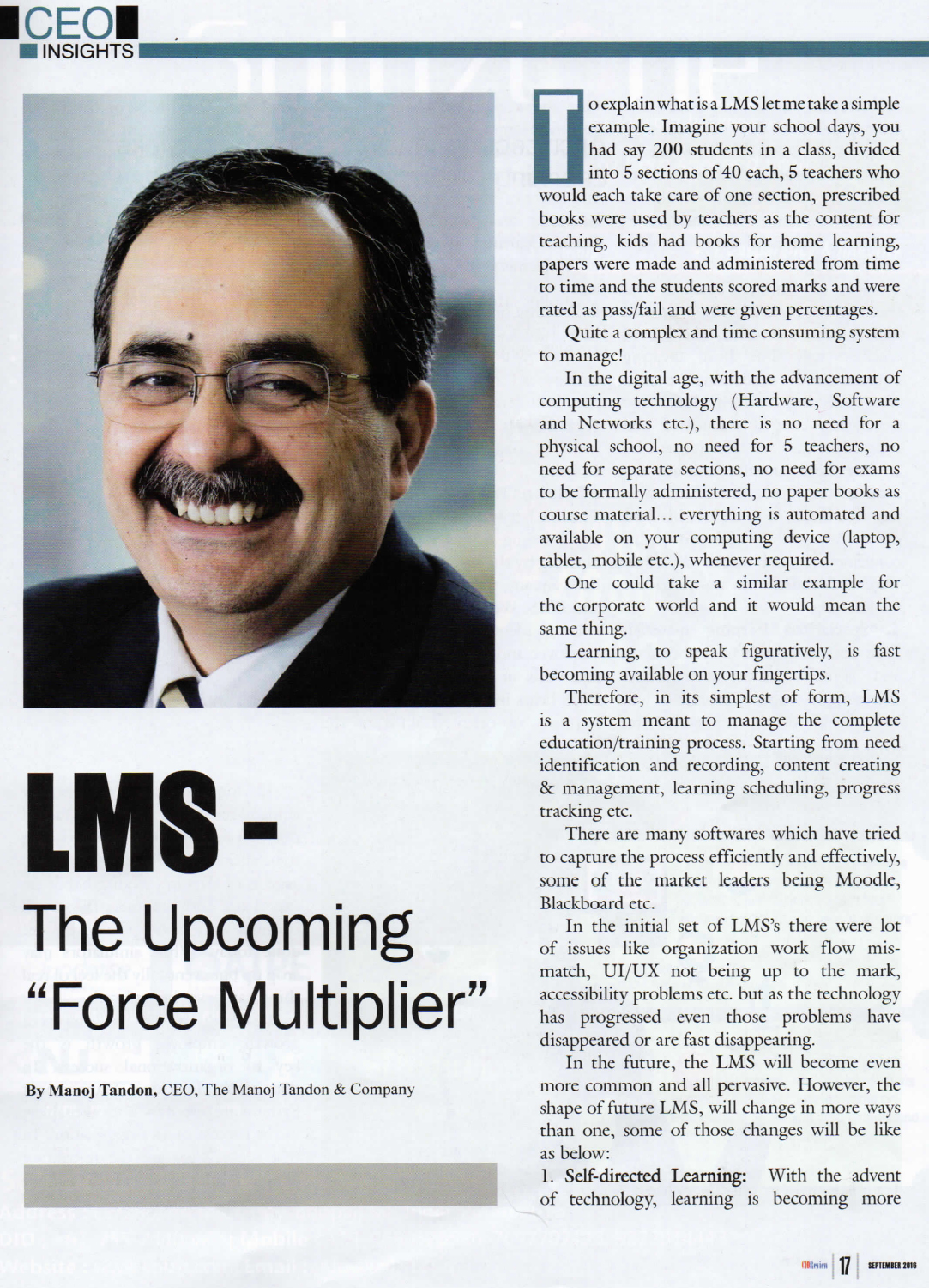 LMS The Upcoming Force Multiplier